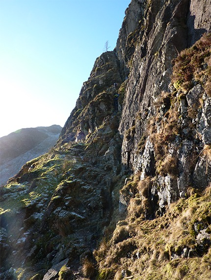 Part of the way up Jack's Rake on Pavey Ark