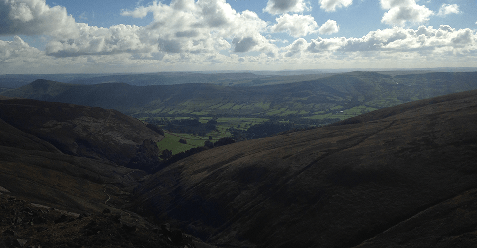 The view into Edale