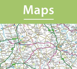 The recommended maps for routes and areas