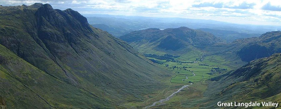 The valley of Great Langdale in the Lake District