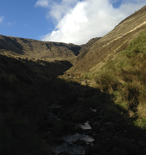 Grindsbrook clough scramble