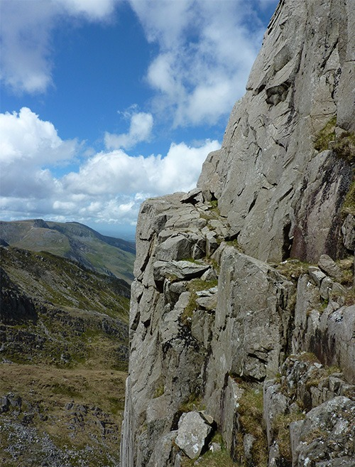 The ledge to regain the main buttress