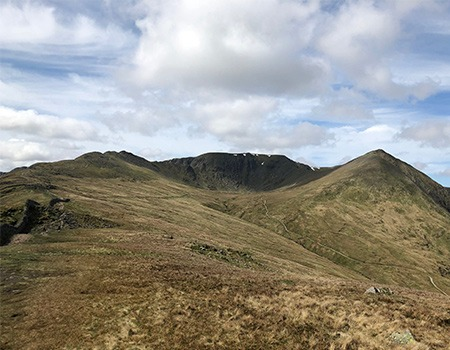 Helvellyn summit from a distance