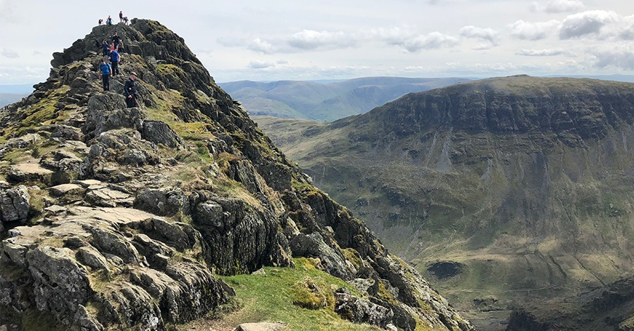 Striding Edge view of St Sunday Crags