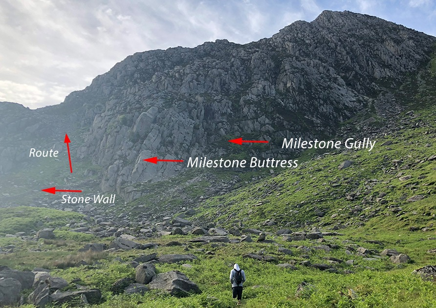Approach to tryfan north ridge