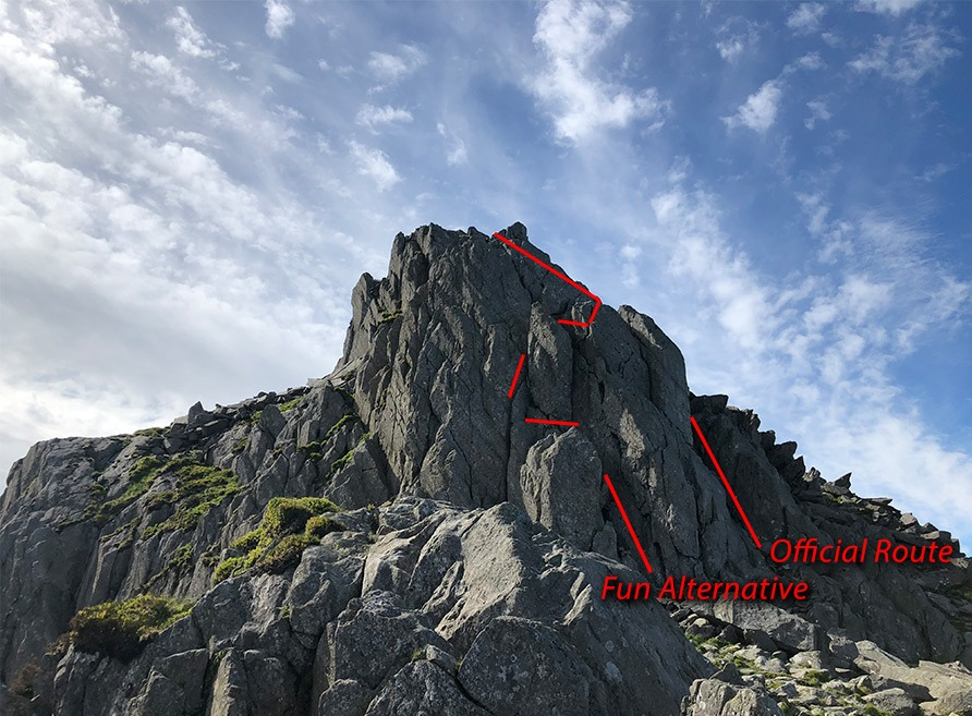 North Tower on Tryfan