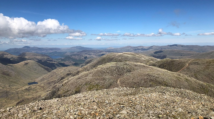 Summit view of Scafell Pike
